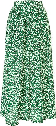 être cécile Saia de seda com estampa camuflada - Verde
