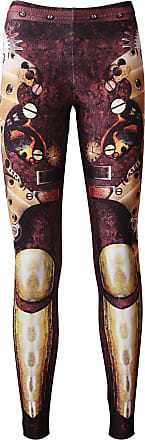 Insanity Traditional Steampunk Machine Mechanical Belts Armour Cogs Clocks Leggings (S)