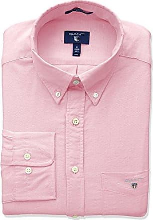 2a1b95d5bf GANT The Oxford Shirt Reg BD Camicia, Rosso (Light Pink 662), X