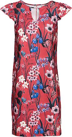 Bodyflirt Dam Blommig klänning i röd utan ärm - BODYFLIRT 7e919bd57ecdc