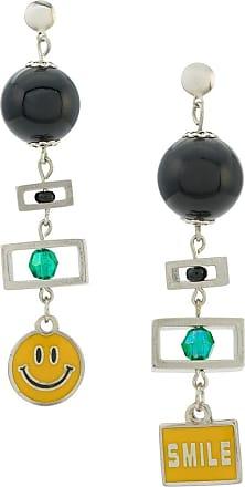 Amir Slama Smiles earrings - Black