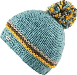KuSan 100% Wool Moss Yarn Bobble Hat Aqua PK1935 Aqua