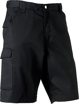 Russell Athletic Russell 002M Polycotton Twill Workwear Shorts Black 34