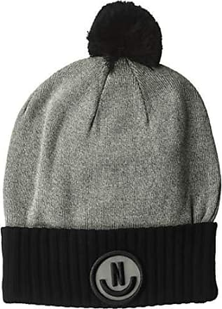 58ee4e38fcd Neff Mens therman Beanie Grey Heather Black One Size
