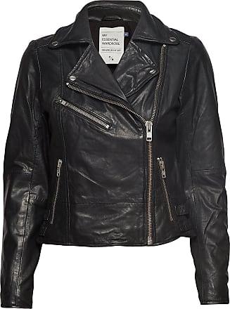 Denim Hunter 02 The Leather Jacket Läderjacka Skinnjacka Svart Denim Hunter