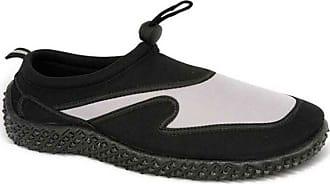 Urban Beach Mens Aqua Socks Shoes Size UK 6-11 Swim SEA Blue Black Grey FW310 (UK 9/EU 43, Black/Grey)
