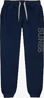 Sun 68 Dunkelblaue Jogginghose mit Sportmotiv - cotton | navy blue | xxl - Navy blue