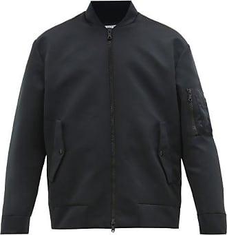 Valentino Moon-print Satin Bomber Jacket - Mens - Black
