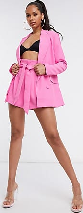 4th & Reckless tie waist short co ord in pink