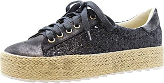 Saute Styles Girls Flat Espadrilles Kids Lace Up Sneakers Glitter Pumps Trainers Shoes Size 29