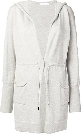 Fabiana Filippi hooded longline cardigan - Grey