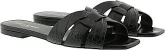 Saint Laurent Sandals - Nu Pieds Slide Sandals Nero - black - Sandals for ladies