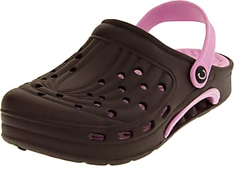 Footwear Studio Coolers Womens Brown Summer Beach Clog Sandals UK 7