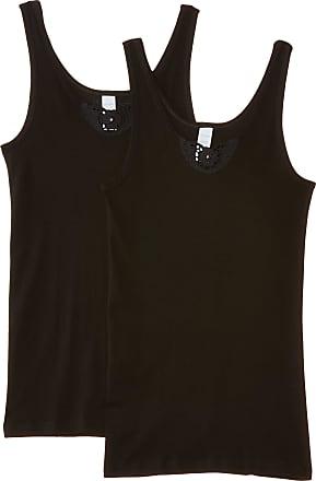 Naturana 802530 Womens Vest, Pack of 2, Black, 2XL (46 EU)