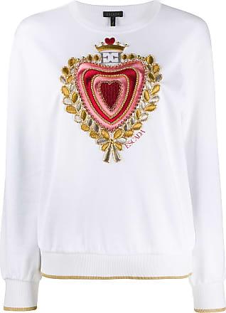 Escada embroidered chest jumper - Branco