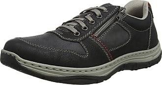 Rieker Mens 16320-00 Low-Top Sneakers, Black (Schwarz/Rauch/Wine 00), 10.5 UK