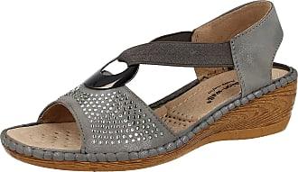 9747c745264 Cushion-Walk Ladies Cushion Walk Faux Leather Peep Toe Sling Back Low Wedge  Summer Sandal