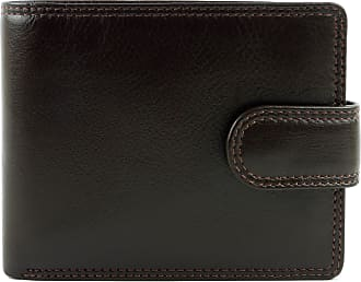 Visconti Mens Quality Leather Tabbed Wallet Heritage Collection Gift Boxed (Chocolate)