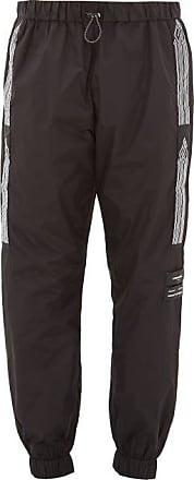 Marcelo Burlon Logo-jacquard Stripe Shell Track Pants - Mens - Black White