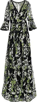 ac2e6484 Marchesa Marchesa Notte Woman Crochet-trimmed Embroidered Tulle Gown Black  Size 0