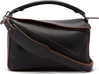 Loewe Puzzle Leather Cross-body Bag - Womens - Black