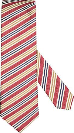 Altea Übergröße : Altea, Krawatte mit Streifen-Muster in Rot für Herren