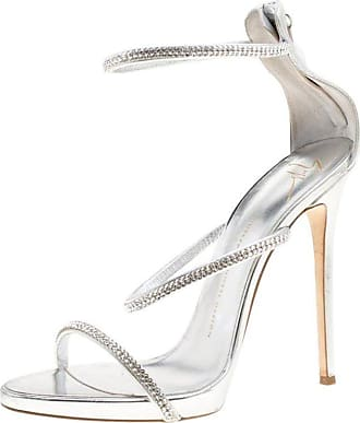 6c00c3bba2f Giuseppe Zanotti Leather Crystal Embellished Harmony Ankle Strap Sandals  Size 41. In high demand