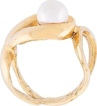 Oscar De La Renta pearl-embellished ring - GOLD
