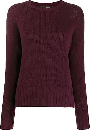 Incentive! Cashmere ribbed trim jumper - Vermelho