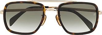 David Beckham Óculos de sol aviador - Marrom
