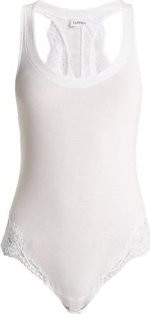 La Perla Souple Lace-trimmed Jersey Bodysuit - Womens - White