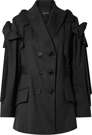 Simone Rocha Bow-detailed Ruffled Wool-blend Blazer - Black