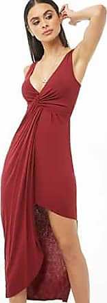 Forever 21 Forever 21 Asymmetrical Midi Dress Burgundy