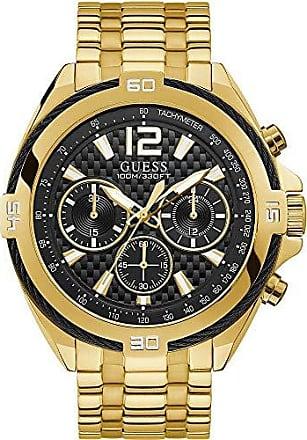 Guess Relógio Guess Masculino Dourado 92733gpgsda5 Analógico 10 Atm Cristal Mineral Tamanho Grande