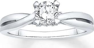 Kay Jewelers Diamond Engagement Ring 1/2 ct tw Round-cut 14K White Gold
