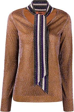 Missoni tie detail knitted top - Laranja