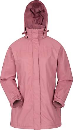 Mountain Warehouse Guelder Womens Winter Long Jacket - Waterproof Rain Coat, Zipped Ladies Coat, Taped Seams, Pack Away Hoodie, Casual Jacket - for Autumn Travelling Pin