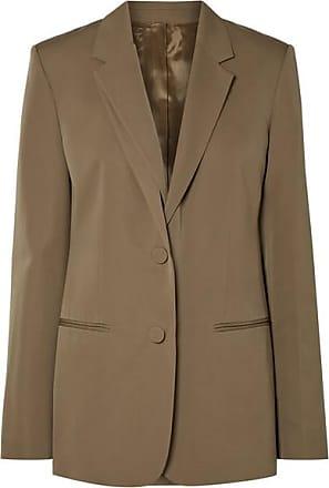 Helmut Lang Layered Wool-twill Blazer - Army green
