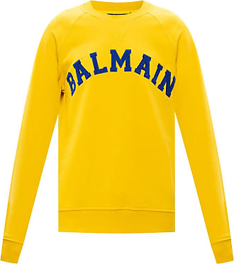 Balmain Logo Sweatshirt Mens Yellow