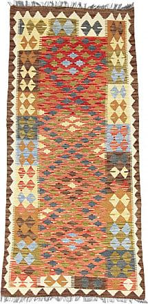 Nain Trading 207x97 Kilim Afghan Rug Runner Beige/Orange (Afghanistan, Handwoven, Wool)