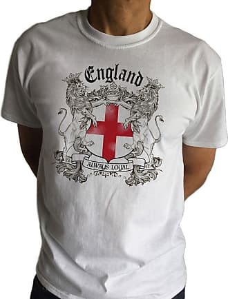 Irony Mens White T-Shirt- England Always Loyal St Georges Flag and Euro 2016 TS102 (XXXLarge)
