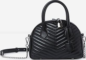 The Kooples Irina medium black leather handbag - WOMEN