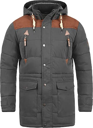 Solid Dry Jacket Long Mens Winter Jacket, size:XL;colour:Dark Grey (2890)