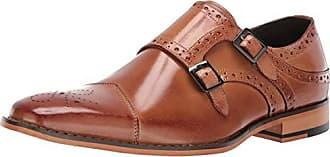 Stacy Adams Mens Tayton Cap Toe Double Monk Strap Loafer, tan, 11.5 M US