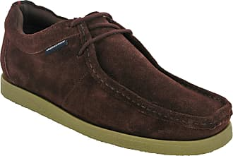 Lambretta Wallabee Classic Leather Shoes Mens Retro (UK 10 / EU 44, Burgundy Suede)