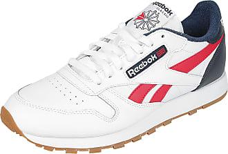 Reebok CL Leather MU - Sneaker - weiß, rot, blau