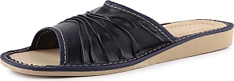 Ladeheid Womens Slippers House Shoes LAFA068 (Navy, 36 EU = 3.5 UK)