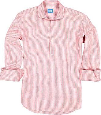 Panareha Camicia polera di lino a righe SARDEGNA rosso