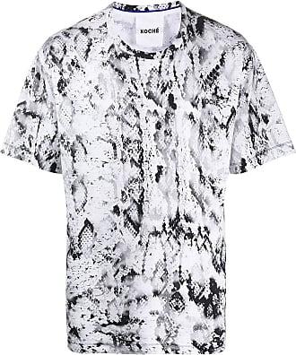 Koché Camiseta com estampa pele de píton - Preto