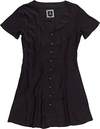 Element Women Mini Dress Sue Twill (Off Black), GröÃYe:S